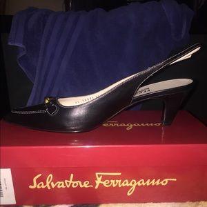 Salvatore Ferragamo Black Pumps